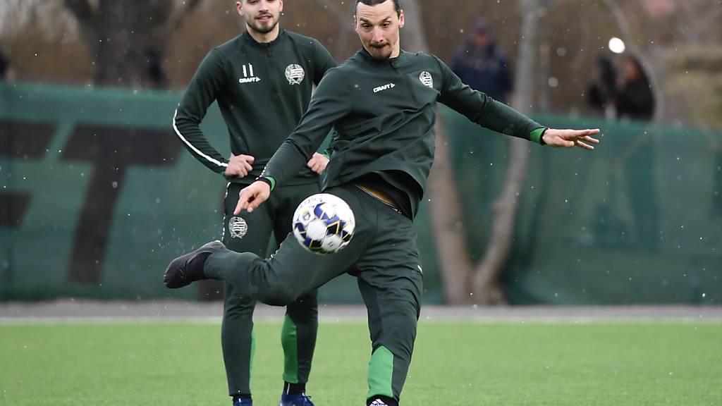 Zlatan Ibrahimovic verletzt sich im Training bei Milan