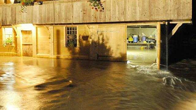 In Rohrbach wurden Häuser überschwemmt