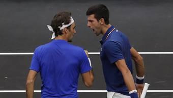 Der Wille war da bei Roger Federer (links) und Novak Djokovic