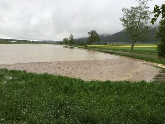 Es ist nicht das einzige Feld, das mit Wasser bedeckt ist.