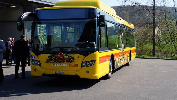 Der neue Erdgasbus der BLT