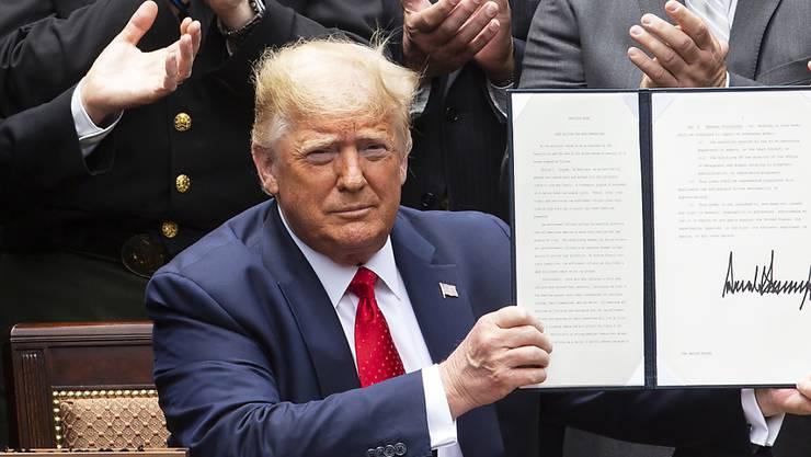 US-Präsident Donald Trump hat ein Sanktionsgesetz unterzeichnet, das sich gegen die Unterdrückung der Uiguren in China richtet. (Archivbild)