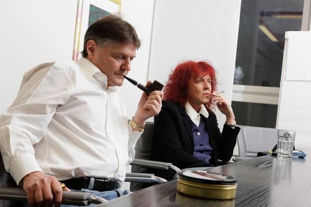 Ancillo Caneppa, Präsident FCZ und Heliane Caneppa, Unterrnehmerin.