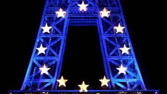 Das Misstrauen wächst: In Frankreich sind die EU-Sterne am Sinken.Key