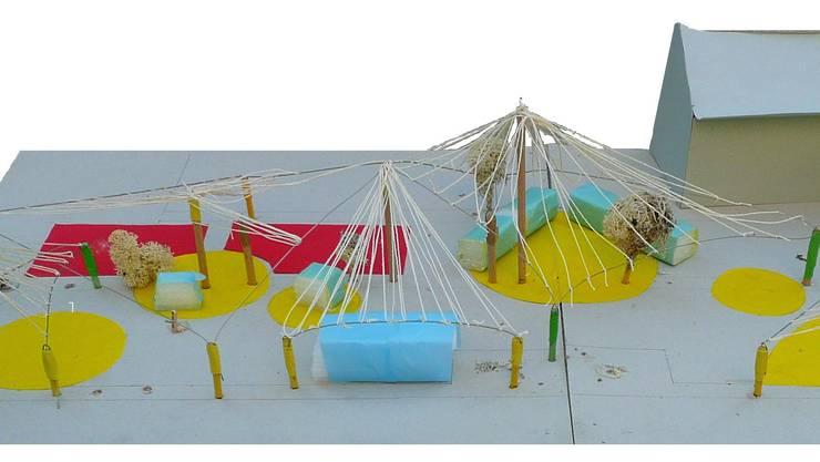 Diese Visualisierung zeigt, wie die Kinder- und Jugendwelt «viu versa» in der Aue an der Badenfahrt aussehen wird.