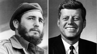 Fidel Castro und John F. Kennedy.
