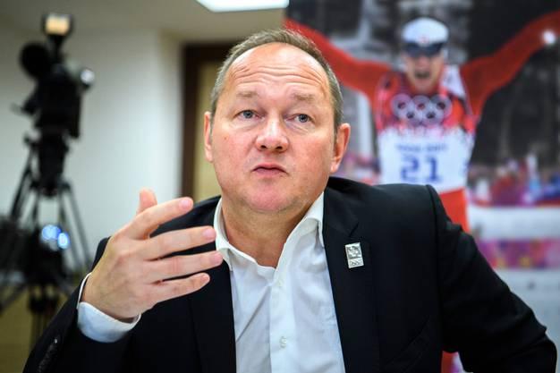 Jürg Stahl, Präsident von Swiss Olympic, möchte die Schutzmassnahmen im Sport gerne wissenschaftlich begleitet sehen.
