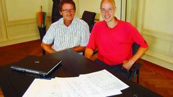 Petitionäre: Mario Fracheboud (links) und David Gerne setzen sich ein. iba
