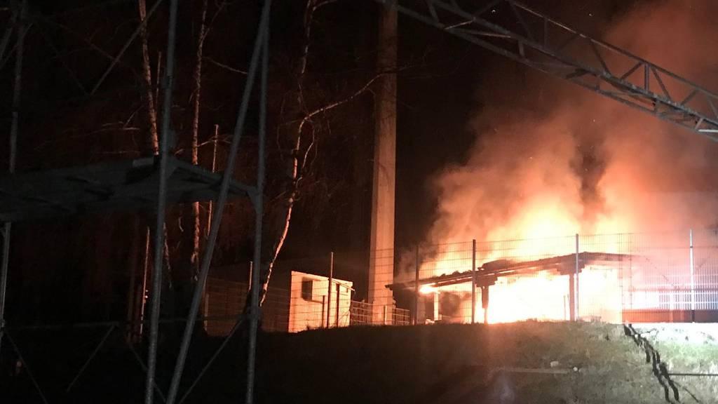 Campinghaus in Brand geraten