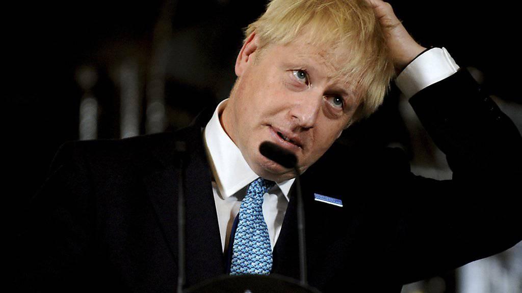 Der britische Premierminister, Boris Johnson, hat in einem Telefonat mit seinem irischen Kollegen Leo Varadkar die Wiedereinführung physischer Grenzkontrollen an der Grenze zwischen Irland und Nordirland auch im Fall eines vertragslosen Brexit ausgeschlossen. (Archiv)
