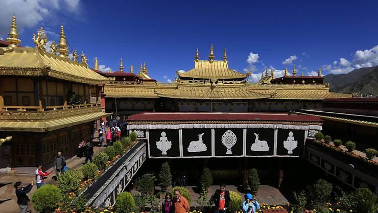 Brand im Unesco-Weltkulturerbe: Im berühmten Jokhang Tempel in Lhasa gab es ein Feuer. (Archivbild)