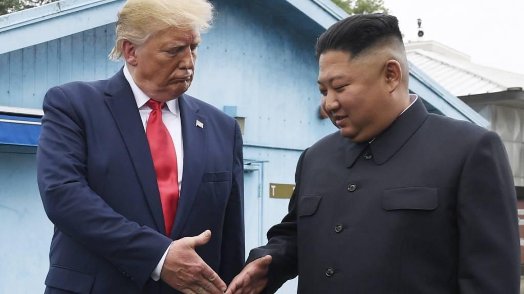 Nordkorea unter der Führung von Diktator Kim Jong Un will nur noch mit den USA unter US-Präsident Donald Trump wegen seines Atomprogramms verhandeln. (Archivbild)