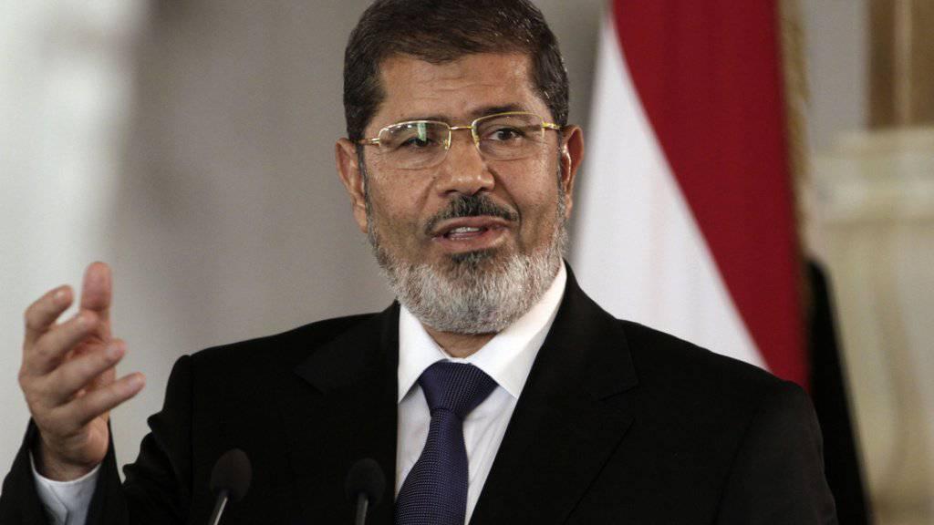 Ägyptens Ex-Präsident Mohammed Mursi ist am Montag gestorben. (Archivbild)