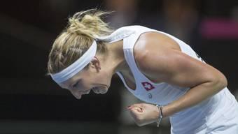 Timea Bacsinszky startete mit einem souveränen Sieg in das Turnier von Rom