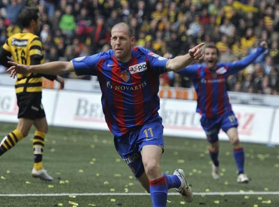 Während seiner FCB-Zeit erzielte Scotty wichtige Tore – wie hier in der Finalissima 2010 gegen YB.