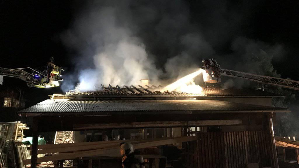 Grossbrand in Schreinerei