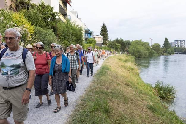 Leserwandern 8. Etappe von Zürich nach Schlieren, am 26. Juli 2019.