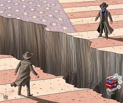Der Graben, der Amerika spaltet, ist so tief wie selten zuvor.