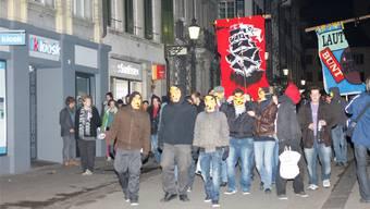 In der Stadt verlief die «Streetparty» am 11. 11. noch relativ friedlich. AK