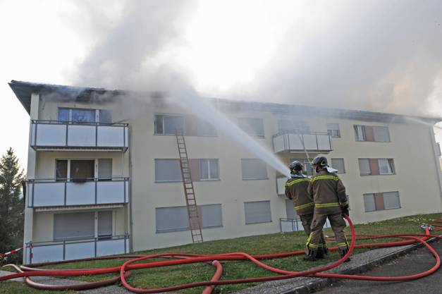 57 Feuerwehrleute sind im Einsatz