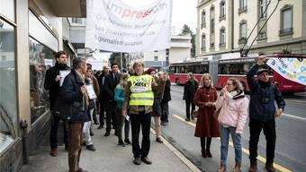 Der Streik der SDA-Belegschaft vom letzten Dienstag zeigt Wirkung. Peter Schneider/Keystone