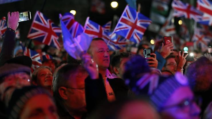 Die Briten feiern den Austritt aus der Europäischen Union.