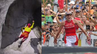 Der Solothurner Warren Verboom (links) und Daniela Ryf aus Feldbrunnen (rechts) gehen für den Sport bis ans Limit. (Archiv)