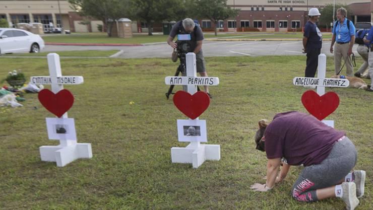 Überlebende des Schulmassakers an einer Schule in Texas schliessen sich der neuen Protestbewegung gegen die Schusswaffengewalt in den USA an. (Symbolbild)