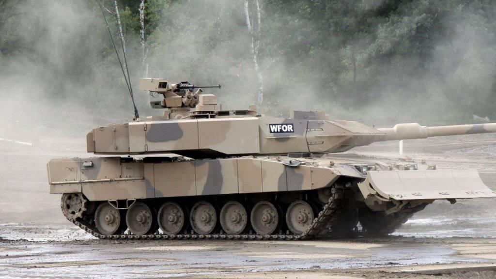 Eines der bekanntesten Produkte des deutschen Rüstungskonzerns Krauss-Maffei Wegmann ist der Panzer «Leopard». (Archiv)