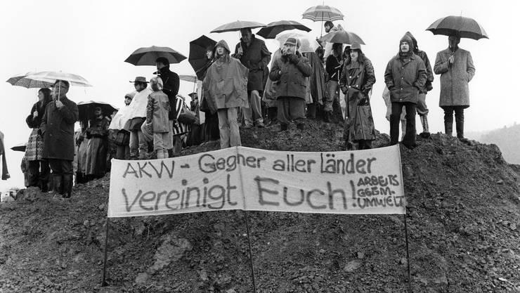 Widerstand, der das AKW-Projekt schliesslich zum Scheitern brachte. 1988 liess der Bund das Projekt endgültig fallen.