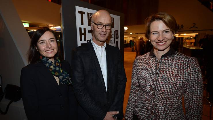 Die Generalversammlung wählte (v.l.) Caroline Barthe, Tom Koechlin und Catherine Alioth, in den Theater-Verwaltungsrat.