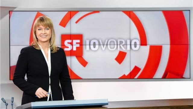Daniela Lager im neuen Studio.  SRF/O. Alessio/H. Stucki