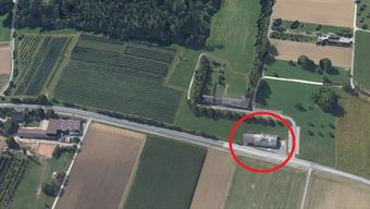 Der Gestank kommt von der rot eingekreisten Grastrocknungsanlage.