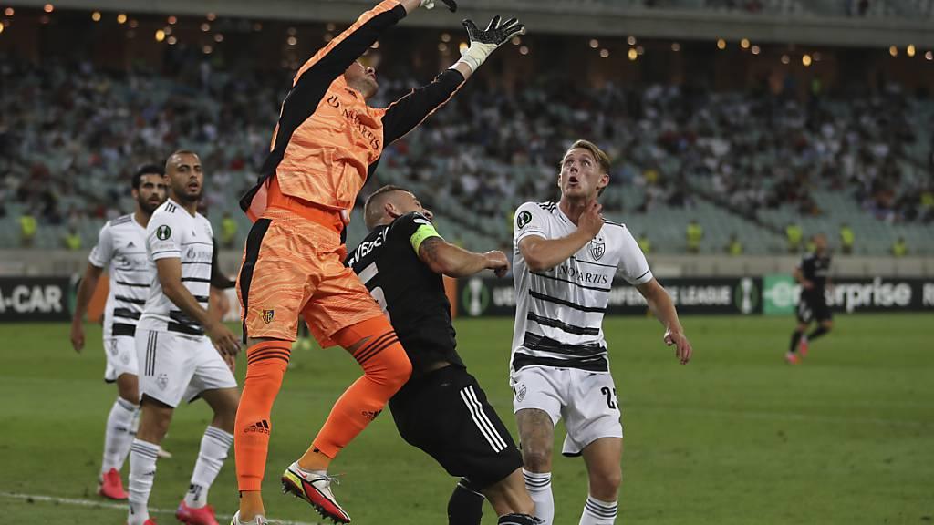 Heinz Lindner war zur Stelle, als er gebraucht wurde: Der Goalie rettete dem FC Basel in Baku einen Punkt