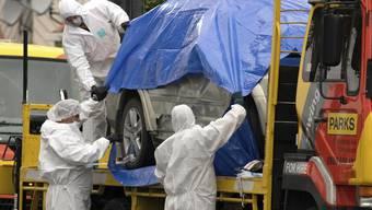 Das Auto des Attentäters: Mit diesem fuhr er zu zwei Moscheen in Christchurch und tötete 50 Menschen, ehe er gestoppt wurde.