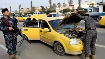 Irakische Polizisten sind in ständiger Alarmbereitschaft