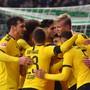Dortmunder Jubel nach dem 2:0 von Erling Haaland (rechts)