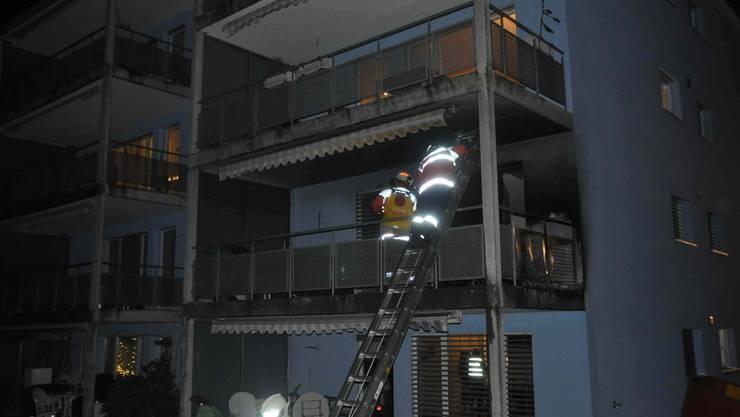 Balkonbrand in Olten.