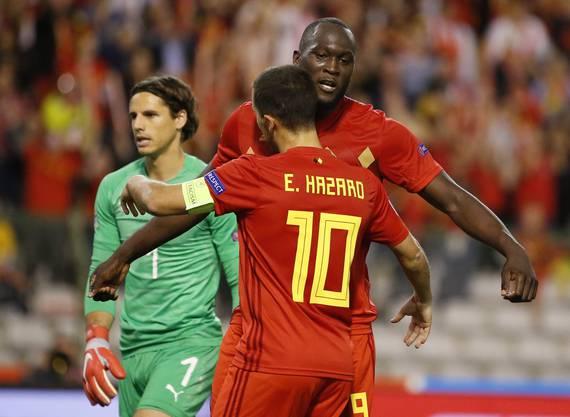 Schlussendlich setzten sich die Belgier mit Captain Hazard und Doppeltorschütze Lukaku 2:1 gegen die Schweiz durch.