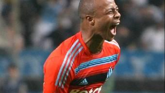 Dede Ayew markierte das 1:0 und 3:0 für Marseille