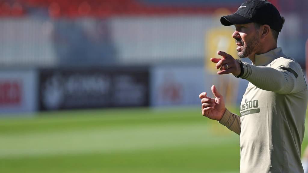 Atlético-Trainer Simeone mit Coronavirus infiziert