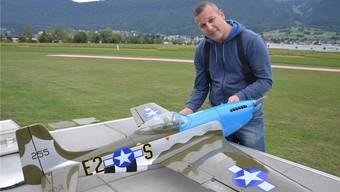 Daniel Rätz, der neue Präsident der Modellfluggruppe Grenchen, ist auch Chefdes Modellflugtages.