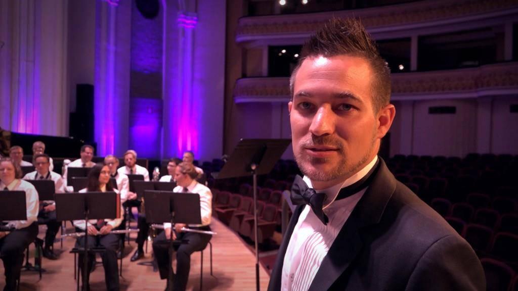 Benjamin Zwick, Dirigent Stadtmusik Altstätten (© TVO)