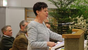 Regierungsrätin Esther Gassler bei ihrer Abschiedsrede vor den Solothurner Jägerinnen und Jägern.