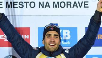 Frankreichs Biathlon-Star Martin Fourcade war einmal mehr nicht zu bezwingen