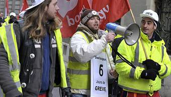 Streikende in Genf