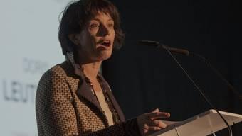 Bundesrätin Doris Leuthard in Fribourg