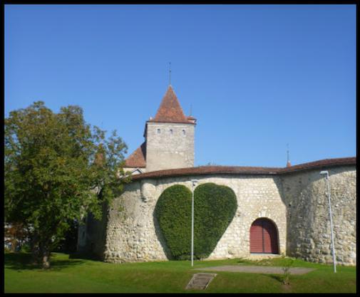 gepflegte Schlossmauer Nidau