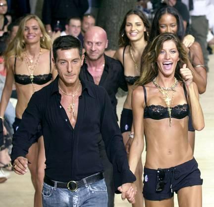 Bündchen an einer Show für Dolce Gabbana