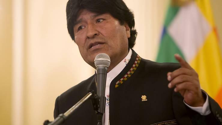 Boliviens Präsident Evo Morales strebt eine Verfassungsänderung an, die ihm auch eine dritte Amtszeit erlauben würde. (Archivbild)